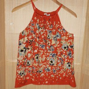 Collective Concepts Red Floral Halter Blouse